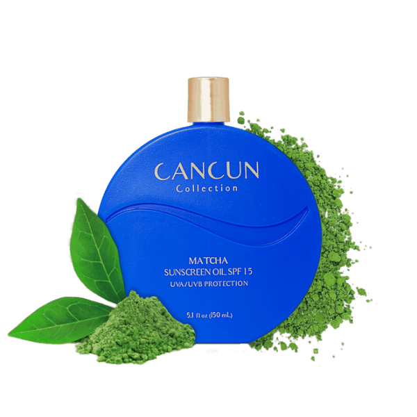 Cancun Collection Matcha Sunscreen Oil